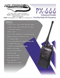 PX666 Compact Two-Way Radio