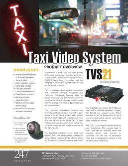 TVS21 Taxi Video System