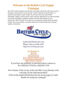 Parts and accesssories for pre1988 British motorcycles