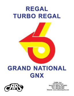 Buick Grand National T-Type Regal Parts