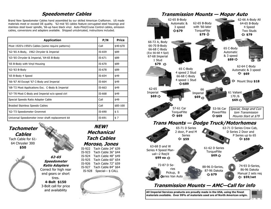 Chrysler pushbutton transmission parts 2009 Summer by Imperial Services