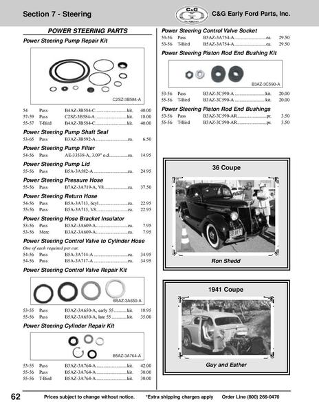 Page 62 of 193256 Car Pick Up Parts 2009 by CG Early Ford Parts