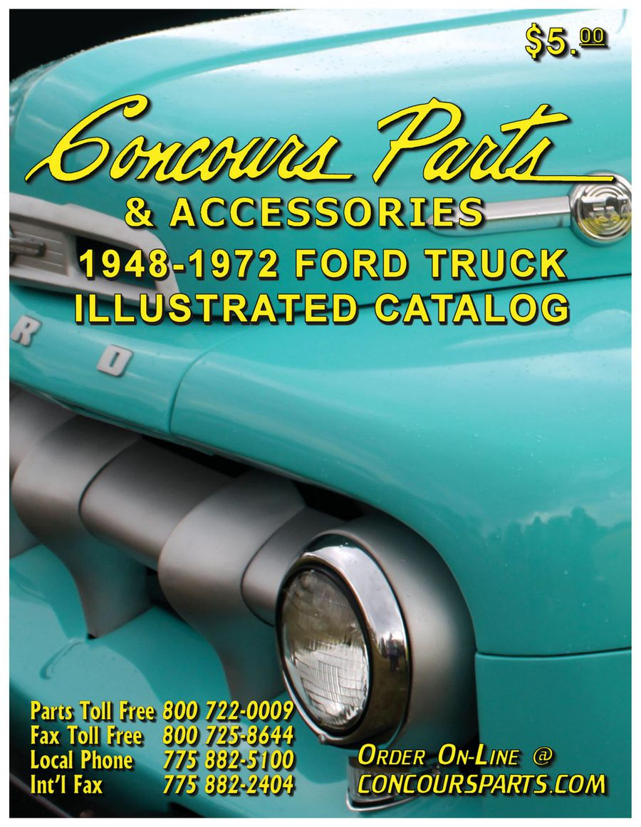 1948 1972 Ford Truck Parts 2014 By Concours 1949 F1 Cab Mounts