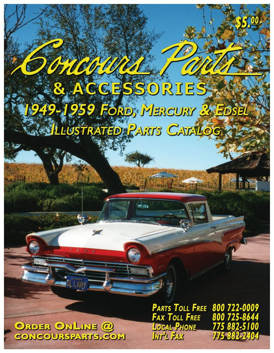 1949 1959 Ford Big Car Parts 2014 By Concours Crown Victoria