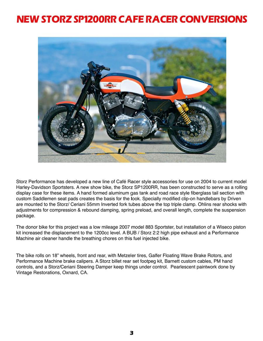 Motorcycle Parts for Harley and Buell 2013 by Storz Performance