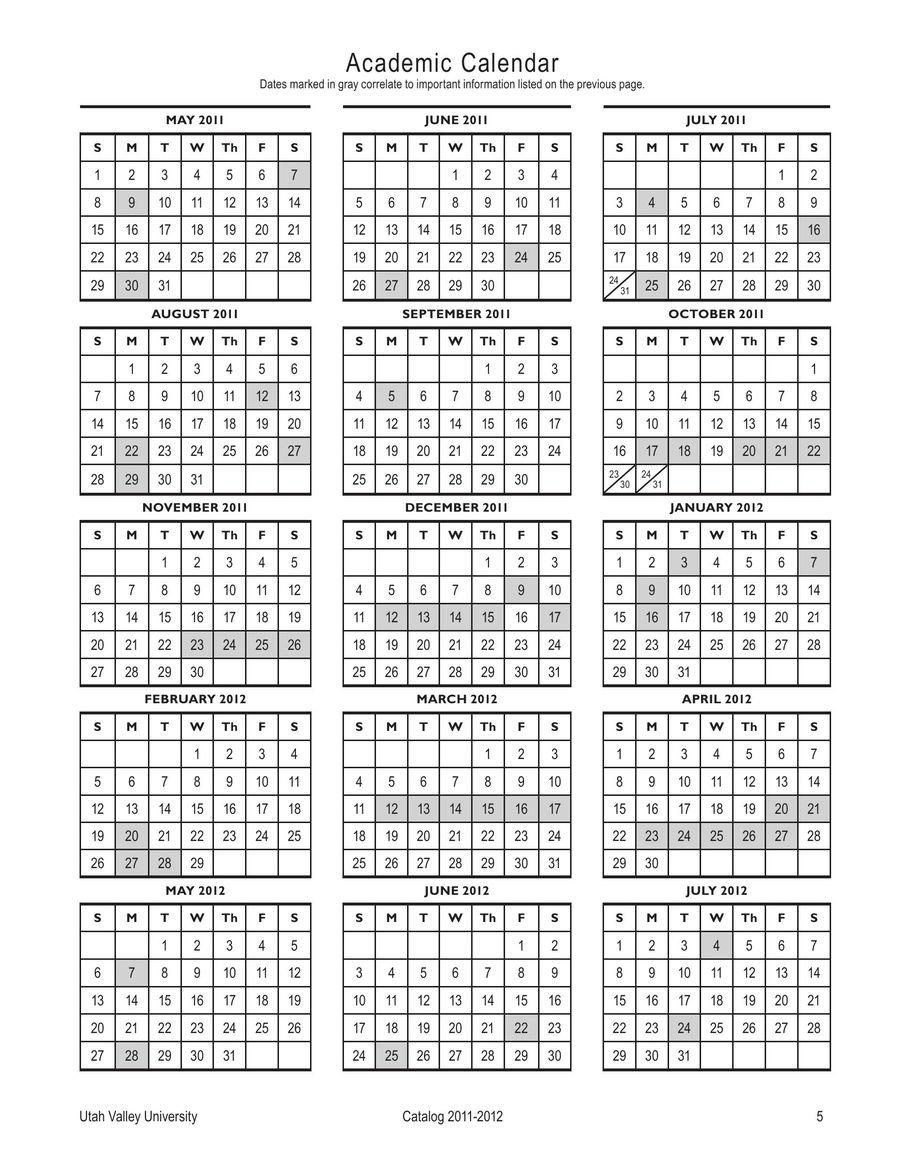 Uvu Academic Calendar.2011 2012 College Catalog By Uvu Utah Valley University