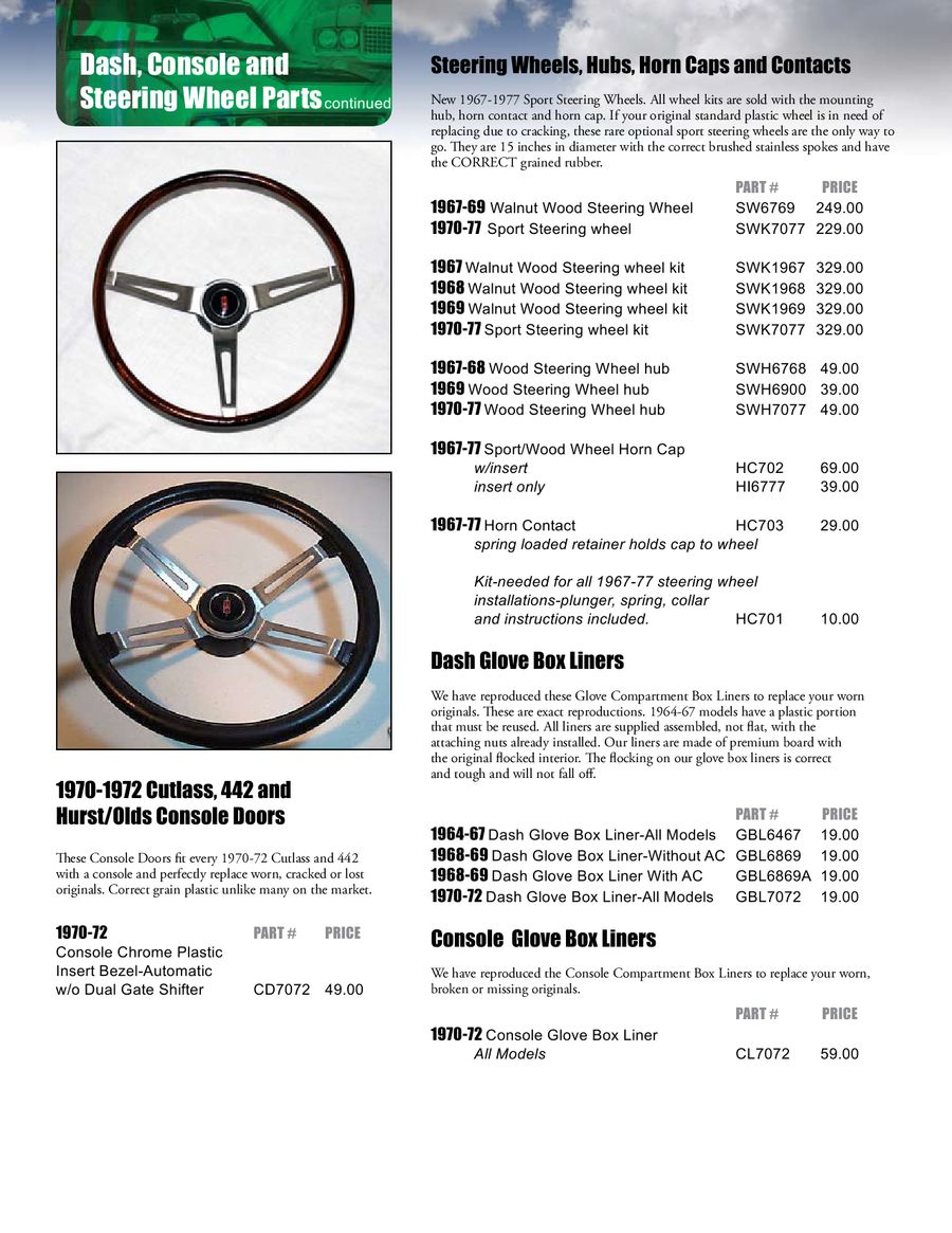 Page 13 of Oldsmobile, Cutlass & 442 Parts 2011