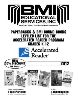 2012 Accelerated Reader Leveled Book List