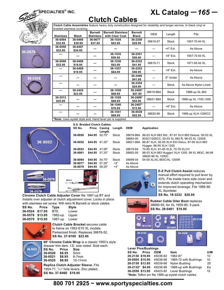 Page 172 Of Parts Accessories For Harley Davidson Sportsters Diagram Sportster Electric Sending Unit Speedo P 208