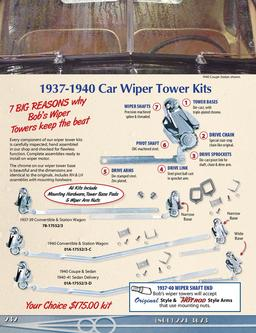 Windshield Wiper Parts for Old Fords & Hot Rods 2013