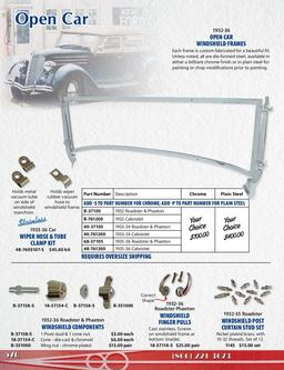 Open Cars - Specific Convertible Parts 2014