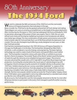 Anniversary of the 1934 Ford 2014