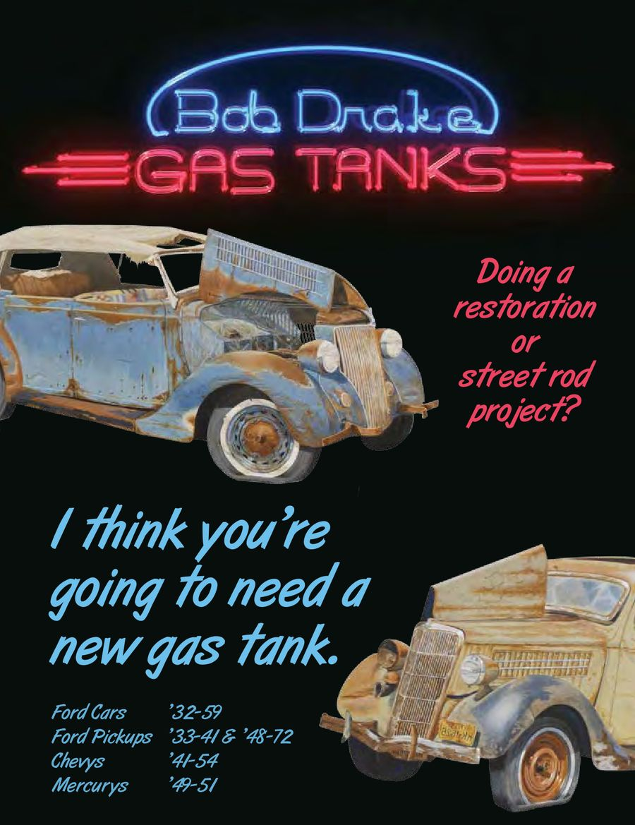Gas Tanks For Old Fords Hot Rods 2013 By Bob Drake Reproductions 1949 Chevy Truck Tank