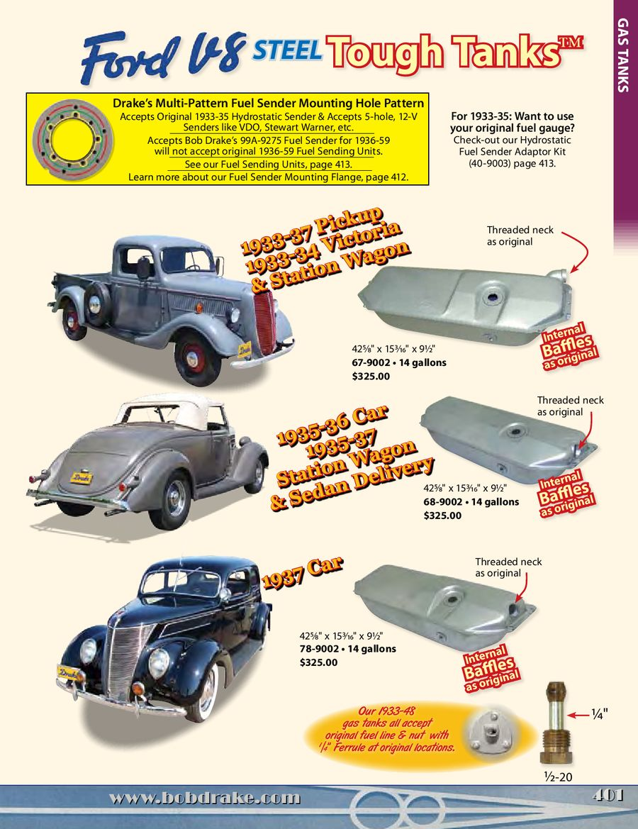 Gas Tanks For Old Fords Hot Rods 2013 By Bob Drake Reproductions 1949 Ford Car Tank P 1 20