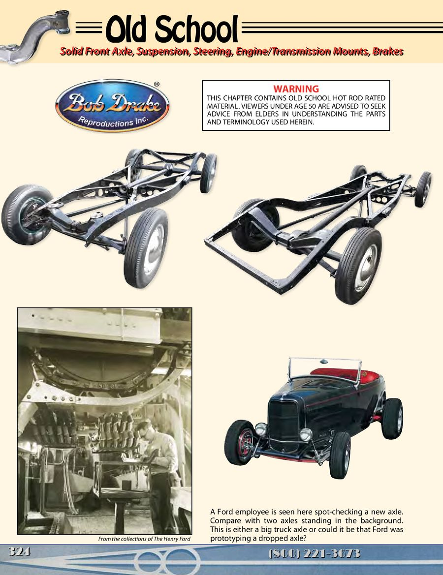 Old School Chassis Parts - Solid Front Axle 2013 by Bob Drake ...