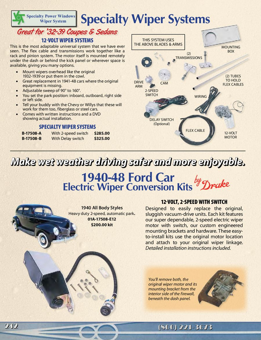 Page 9 Of Windshield Wiper Parts For Old Fords Hot Rods 2013 Wiring 12 Volt 2speed Steeringcolumnmounted Switch P 14