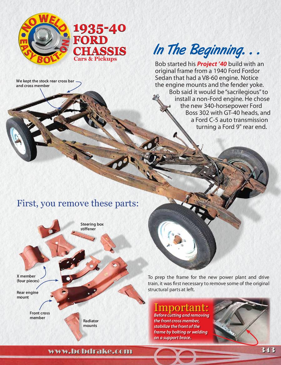 35-40 Bolt-On Chassis Parts 2014 by Bob Drake Reproductions