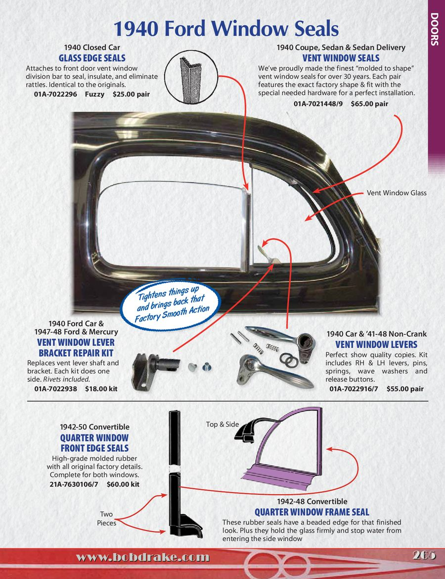 Page 265 Of Bob Drake Reproductions Catalog 25 2014 1940 Ford Car Complete Wiring Harness P 724