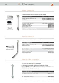 ENT Specialty Instruments 2010