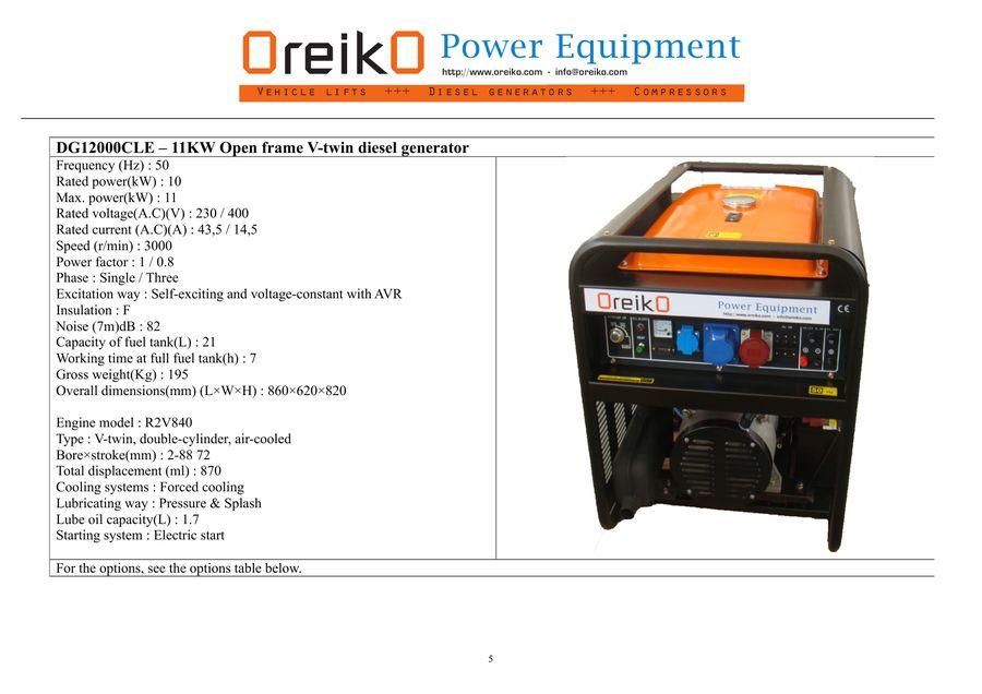 Diesel Generators by OreikO Power Equipment