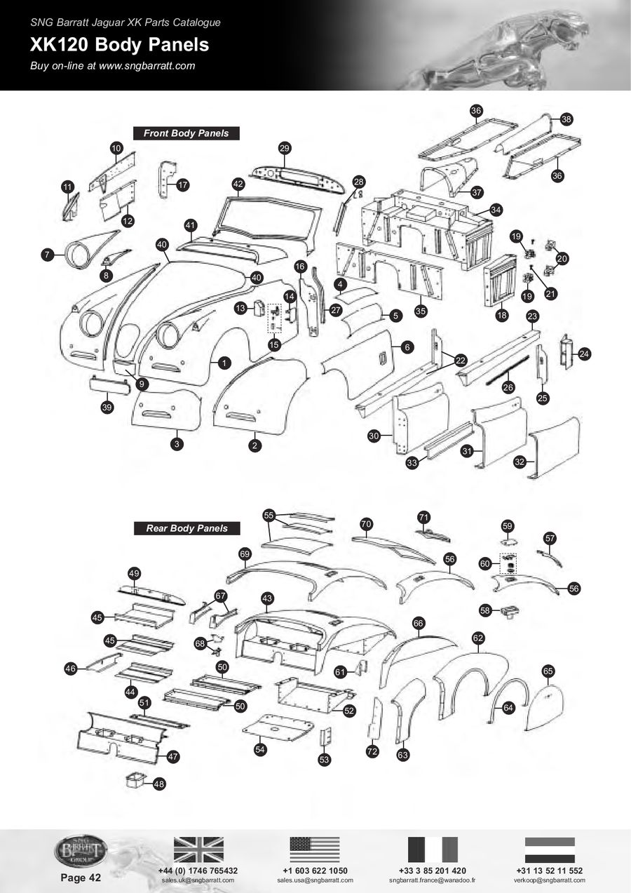 Page 44 of The Difinitive XK Parts Catalogue