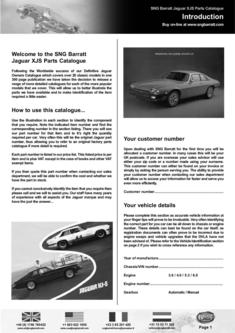The Difinitive XJS Parts Catalogue