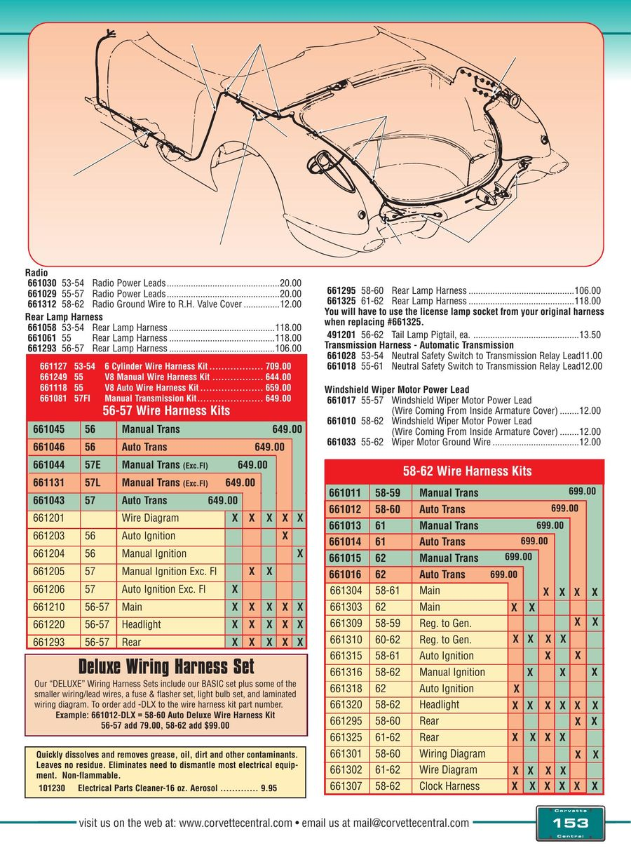 Page 153 Of Corvette C1 53 62 Parts And Accessories 2016 1958 Headlight Wiring Diagram P 164