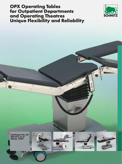 Operating Tables for Outpatient Departments and Operating Theatres