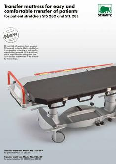 Transfer mattress for easy and comfortable transfer of patients