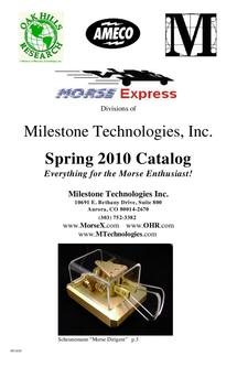 Everything for the Morse Enthusiast Spring 2010