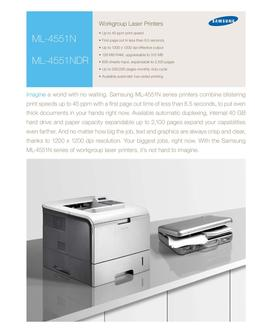 ML-4551N Workgroup Laser Printers