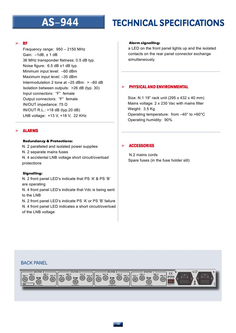 Page 13 Of Television Broadcast Monitoring And Mesurement Equipment Mains Voltage Monitor P 20
