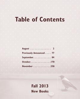 Fall 2013 New Book