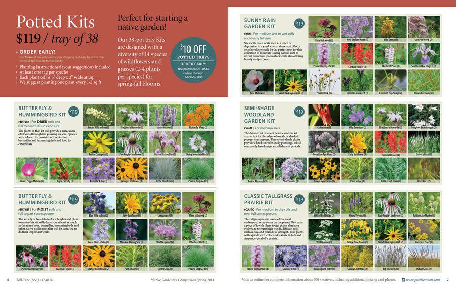 2014 Native Gardeners Companion by Prairie Moon Nursery