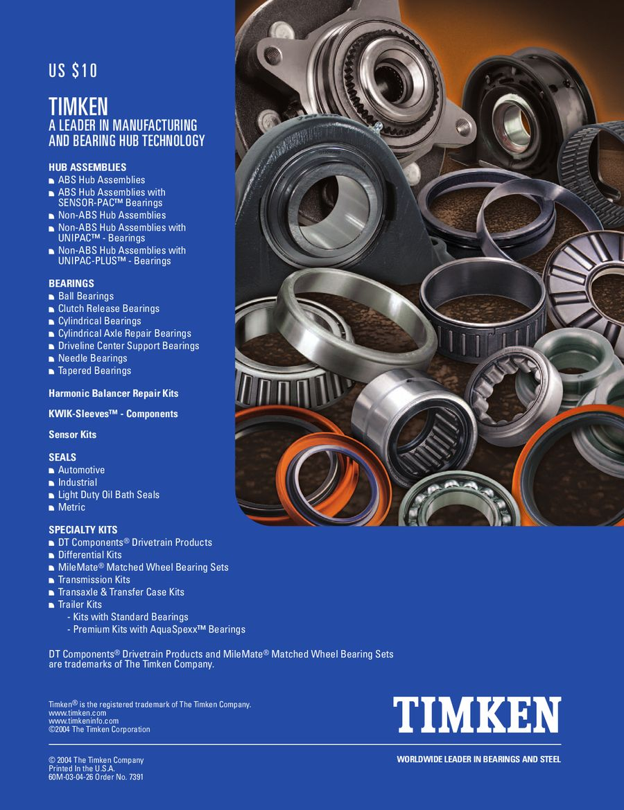 Page 582 of Automotive Aftermarket Bearing and Seal Applications