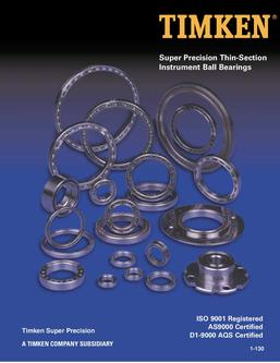 Super Precision Thin-Section Instrument Ball Bearings 2013