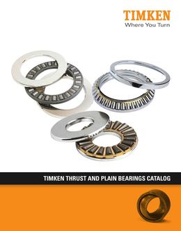 Timken Thrust & Plain Bearings 2013