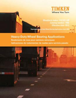 Heavy Duty Wheel Bearing Applications 2013