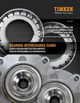 Automotive Aftermarket Bearing Interchange Guide 2013