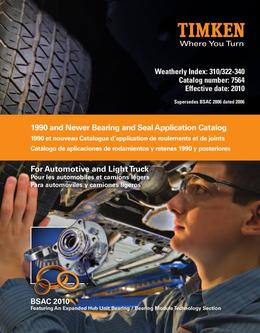 Automotive Aftermarket Bearing and Seal Application Catalog (1990 and newer) 201