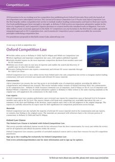 Competition Law 2010/2011