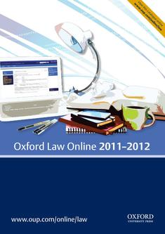 Oxford Law Online 2011–2012