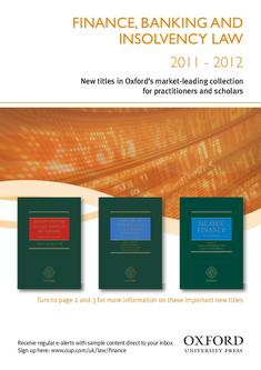 Finance, Banking and insolvency law  2011 - 2012