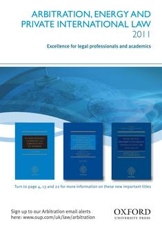 Arbitration, Energy And Private international Law  2011
