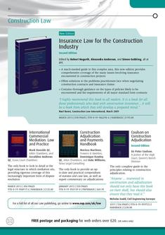 Construction Law 2012/2013