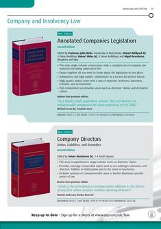 Company and Insolvency Law 2012/2013