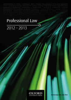 Professional Law 2012-2013