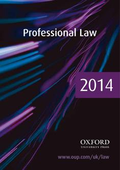 Professional Law 2014