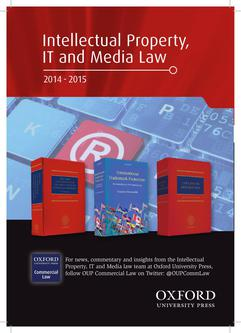 Intellectual Property, IT and Media Law 2014/15