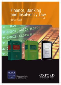 Finance, Banking and Insolvancy Law 2014/15
